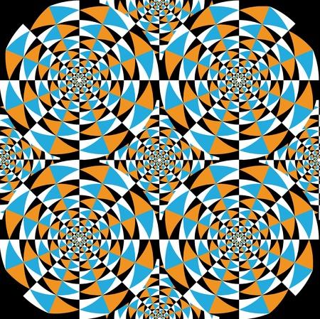 visual effect: Optical effect of movement Illustration