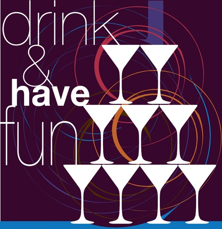 Drink & have fun. Vector illustration Stock Vector - 10915068