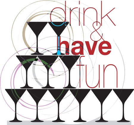 Drink & have fun. Vector illustration Stock Vector - 10915982
