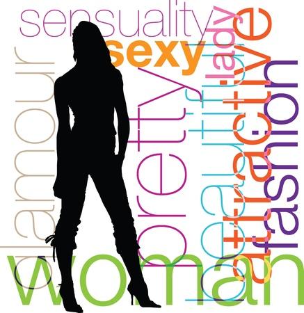 dress form: Woman Illustration