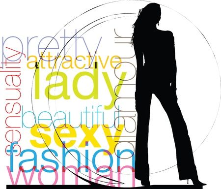fashion boutique: Woman Illustration