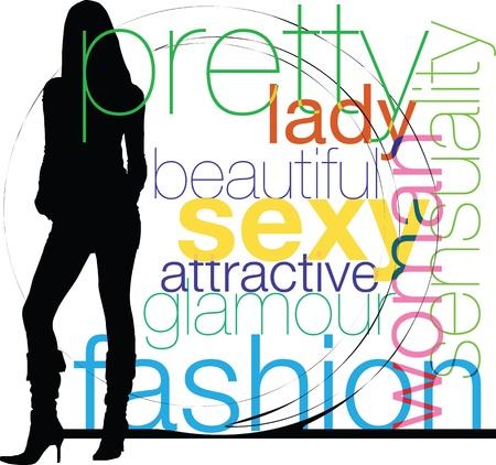 boutique display: Woman Illustration