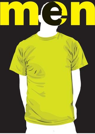clothed: Illustrazione vettoriale moda uomo. Vettoriali