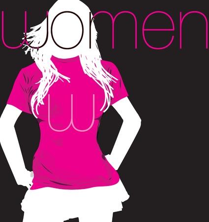 Fashion Woman. Vector illustration Vector