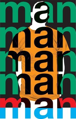 Moda Hombre. Ilustración vectorial Foto de archivo - 10915985