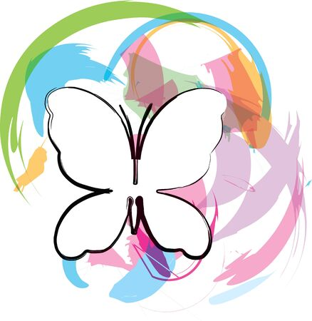 Butterfly background. Vector illustration Vector
