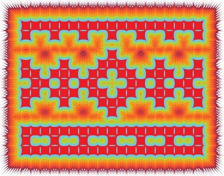 indian fish: Ancient pattern. Vector illustration