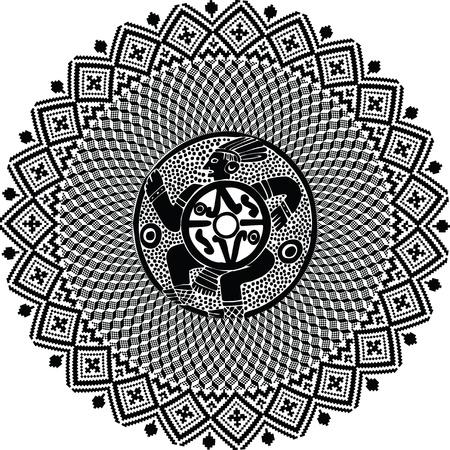inca: American culture background. Vector illustration