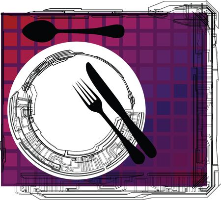 Empty plate illustration Vector