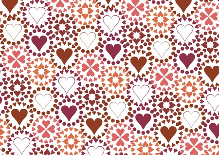 truelove: heart pattern. vector illustration Illustration