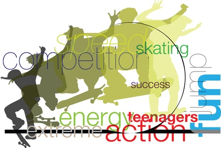 Skater illustration Stock Vector - 10916057