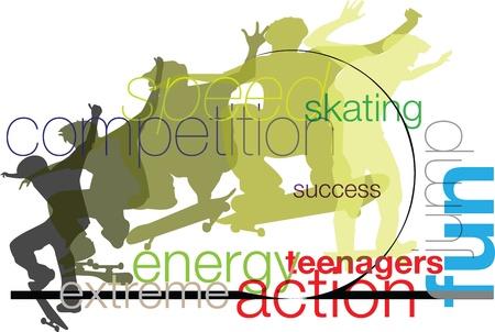 adolescence: Skater illustration Illustration