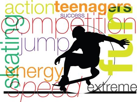 Skater illustrazione