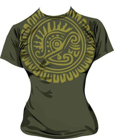 Ancient t-shirt illustration Illustration