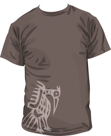 Ancient t-shirt illustration Vector