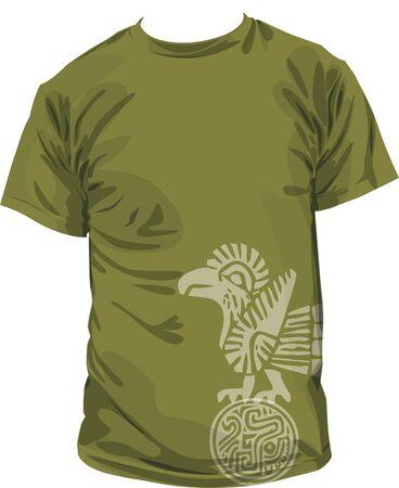 peruvian: Ancient t-shirt illustration Illustration
