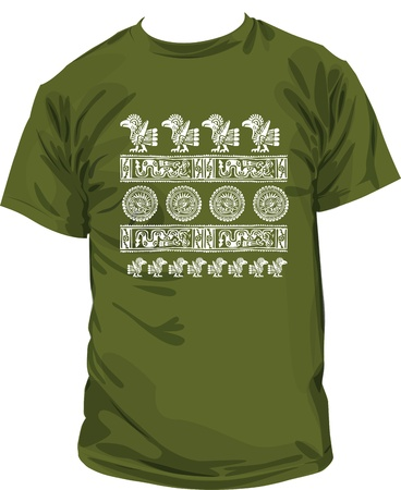 Ancient t-shirt illustration Vector