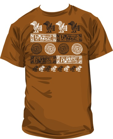 geoglyphs: Ancient t-shirt illustration Illustration