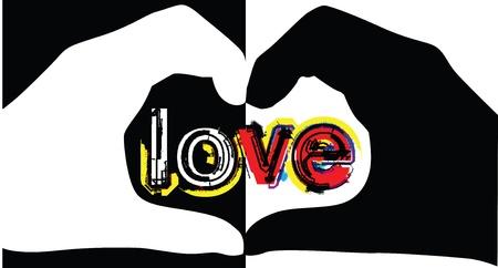 day care: Mani realizzato in forma di cuore Vettoriali