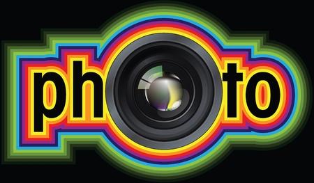 Professional photo lens. Editable vector illustration Stock Vector - 10916091