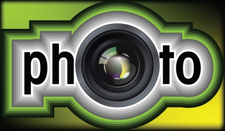 Professional photo lens. Editable vector illustration Stock Vector - 10916117