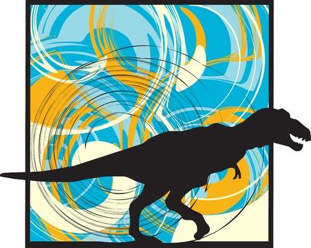 t rex: Dinosaurusillustratie