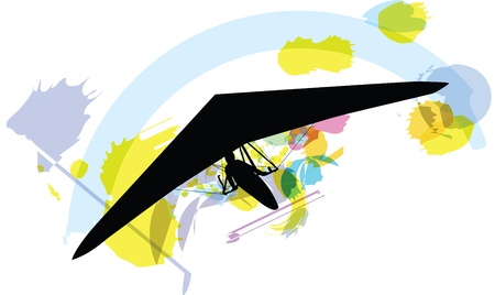 glider: hang glider. vector illustration Illustration