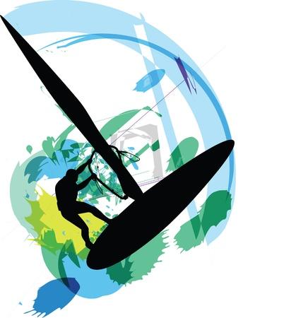 windsurf: Viento ilustraci�n de surf