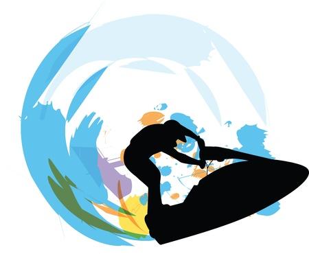 Jetski illustrator