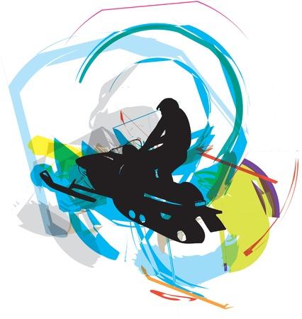 deportes nauticos: nieve ilustración de esquí