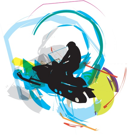 snow ski illustration Vector
