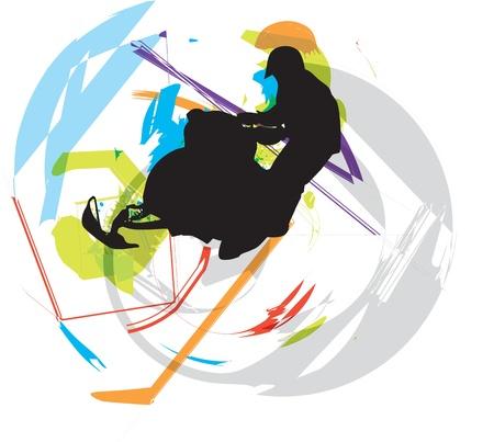 snow ski illustration Illustration
