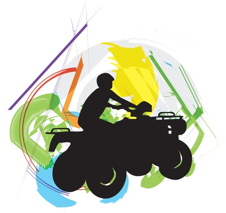 Sportsman riding quad bike Vector