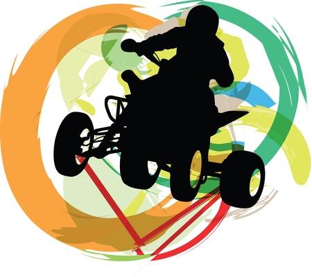 quad: Sportsman riding quad bike