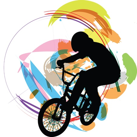 male on a bicycle Vector