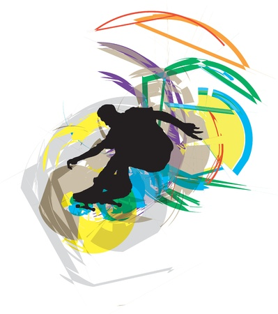 Skater illustration Stock Vector - 10931887