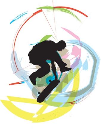 Skater illustration Illustration