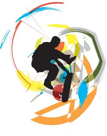 Skater illustration Vector