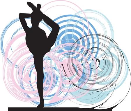 Acrobatic girl illustration Stock Vector - 10936976