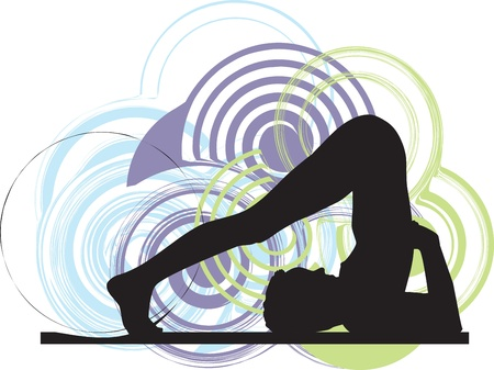 serene people: Yoga ilustraci�n