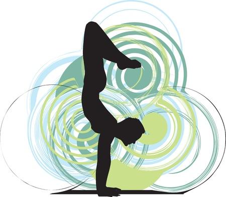 Yoga illustration Stock Vector - 10936967