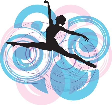 gimnastas: Bailarina saltando