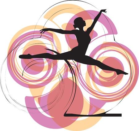 ballet studio: Ballerina jumping