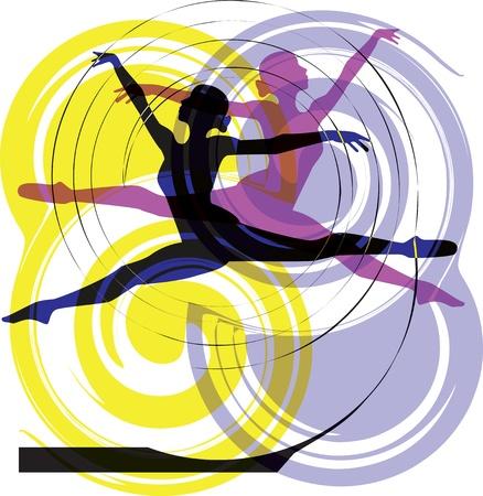 Ballerina jumping Stock Vector - 10936988