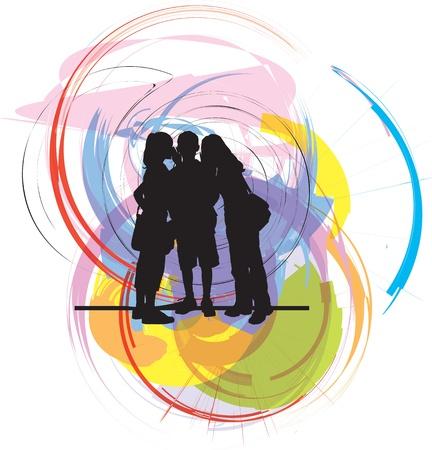 Friends. Editable Vector Illustration Vector