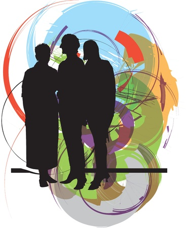 Friends. Editable Vector Illustration Stock Vector - 10931884