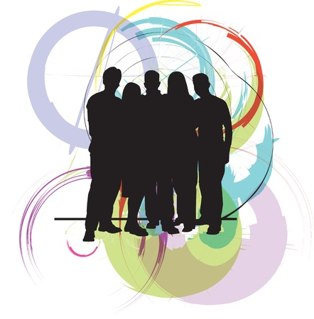 business diversity: Professional business team Illustration