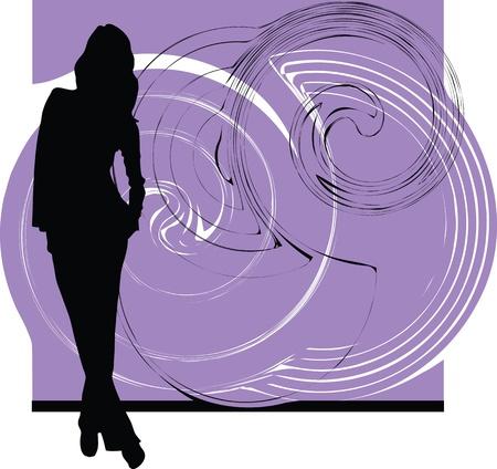 siluetas de mujeres: mujer ilustraci�n vectorial Vectores