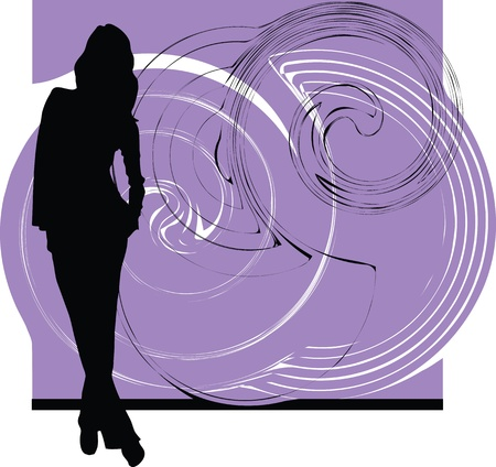 silhouettes: woman vector illustration Illustration