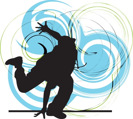 Breakdancer illustration Vector